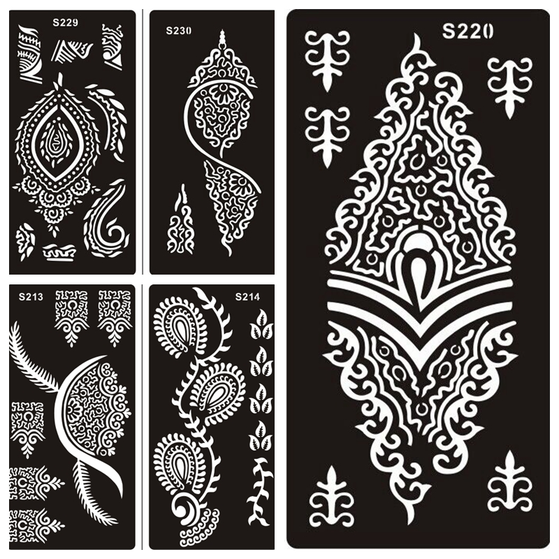 Buy 50 pcs tattoo stencil for hand finger for Henna temporary tattoo stencils