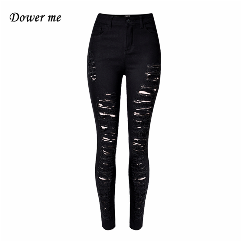 Plus Size High Waist Slim Stretch Ladies Pencil Jeans Pants Casual Skinny Cotton Denim Trousers for Woman Black YN298 new pencil pants high waist elastic denim long jeans skinny trousers plus size for woman women ladies feminino