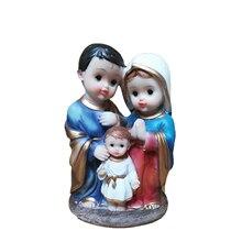 Кристиан католический Иисус Мария Джозеф Святого Семья трех человек Семья благословение Статуи