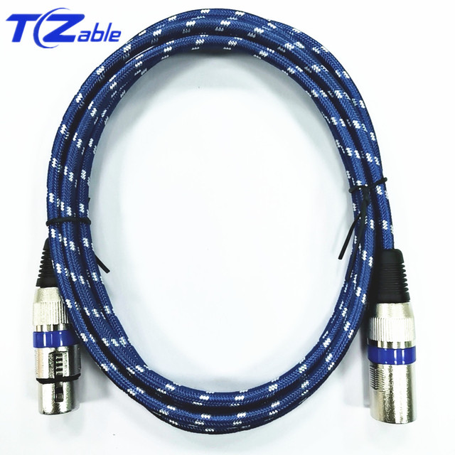 XLR Cable 3 pin Male To Female Karaoke Microphone Sound Cannon Plug  Extension Audio Mixer Amplifier Cord AUX