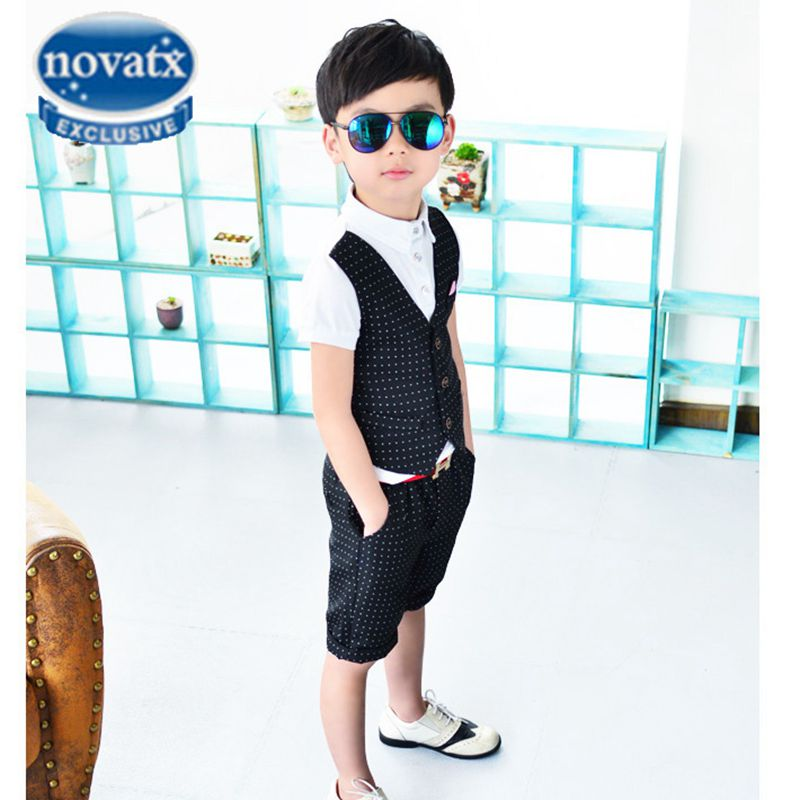 Children's clothing Novatx garment child prom suits summer costume child boy clothes set marriage boys suits for wedding KBY8613 2017 new boys clothing set camouflage 3 9t boy sports suits kids clothes suit cotton boys tracksuit teenage costume long sleeve