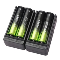 4pcs 3 7V 18650 Battery Rechargeable Li Ion Lithium Battery 2pcs Smart 18650 Battery Charger
