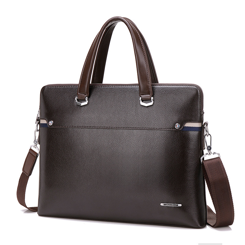 Us 30 93 45 Off 2017luxury Leather Attache Case Men Briefcase Male Office Bags For Work Bag Laptop Over Shoulder On