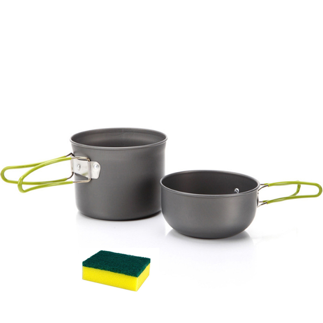 5a448c9bef26 US $11.57 40% OFF|Ultralight Camping Cookware Utensils outdoor tableware  set Hiking Picnic Backpacking Camping Tableware Pot Pan 1 2persons-in  Outdoor ...