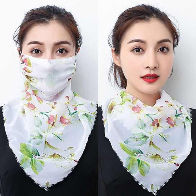 2020 Hot sell mouth mask Lightweight Face Mask scarf Sun Protection Mask Outdoor Riding Masks Protective silk Scarf Handkerchief 1