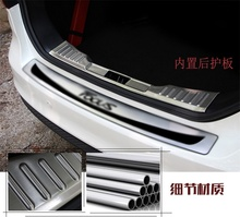 For 2015 Ford Focus 3 Stainless Steel Intenal Rear Trunk Door Sill Scuff Plate Protection car stickers car styling accessories