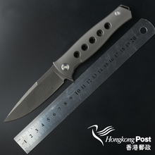 Russian Dr Death Mayo ceramic ball bearing Folding Knife D2 Titanium Carbon Fiber Camp Hunting Survival Knives Outdoor EDC Tools