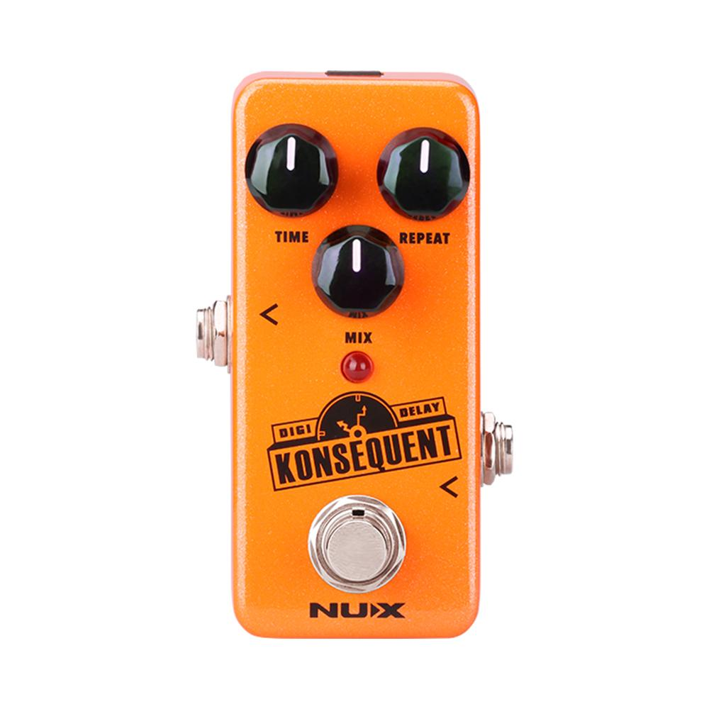 NUX Konsequent Digital Delay Electric Guitar Effects Pedal Re-defined Dotted 8 Simple Delay Modes Analog Processor Stompbox joyo ironman digital guitar effects pedal delay guitarra stompbox copy analog modulation filtered delay models truebypass