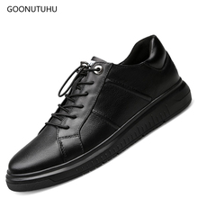 Fashion men's casual shoes genuine leather cow loafers man black shoe new youth breathable comfortable shoes for men big size 12 high quality mens basic shoe 2017 fashion for men casual shoes breathable genuine cow leather man elastic man brand shoes