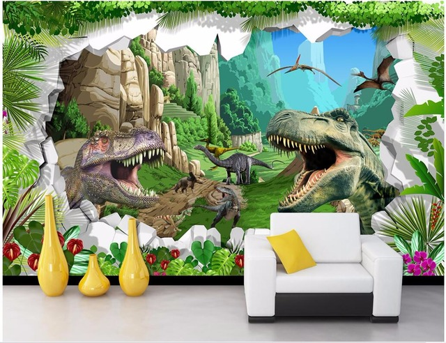Wdbh Custom Mural Photo Wallpaper Cartoon Age Of Dinosaurs Children S Room Home Decor Wall