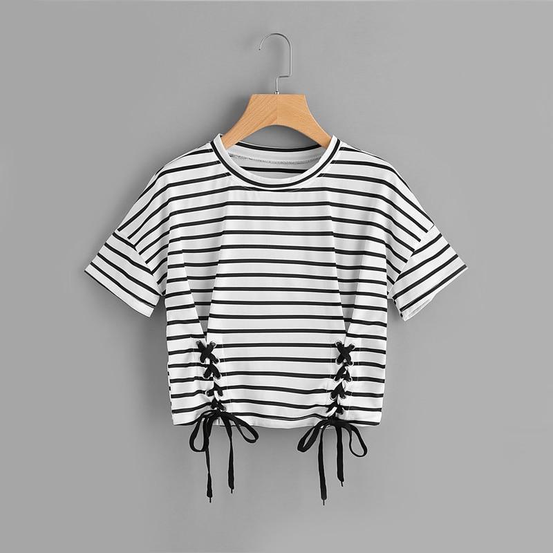 Black and White Short Sleeve T Shirt