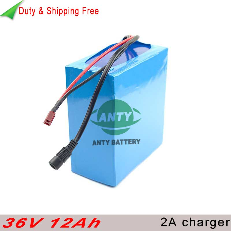 eBike Battery 36v 12ah 500w Electric Bike Battery 36v with 2A Charger 30A BMS Lithium Scooter Battery 36v Free shipping & Duty
