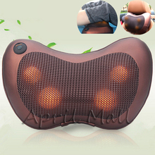 Car Home Electric Massage Pillow Far Infrared Heated Full Body Massager Cushion Neck Back Electronic Shiatsu Relax Health Care
