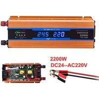 Car inverter 2200W 24 V 220 V Voltage Converter 24v to 220v Car Charger Volts display DC to AC 50Hz CY924 CNS