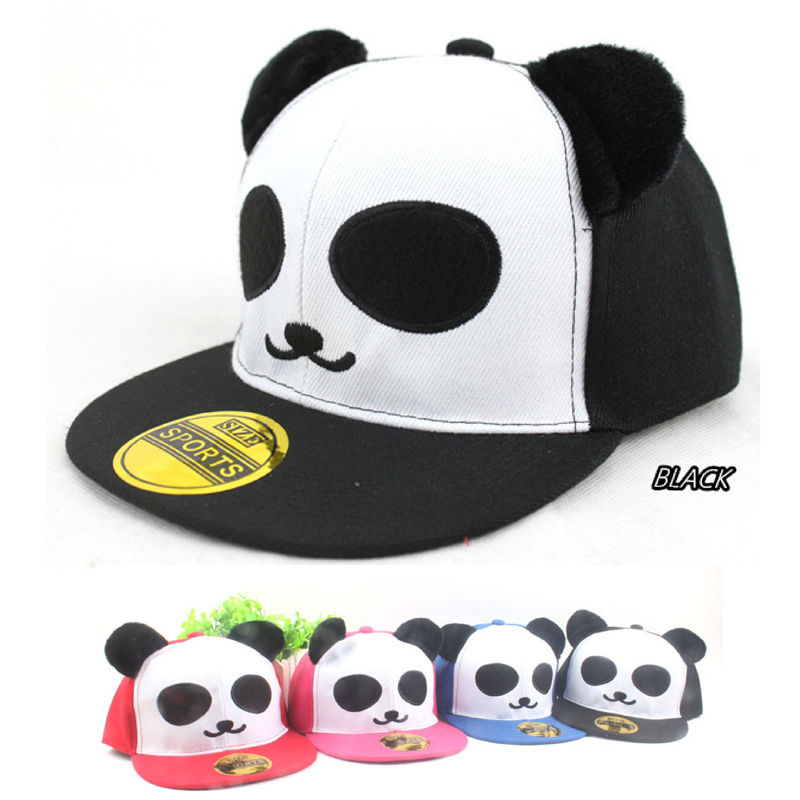 CLIMATE Children Kids Panda Snapback Caps Cute Bone Smiling Face Adjustable  Bush Ear Hiphop Girl Boy teenager Hat-in Baseball Caps from Apparel  Accessories ... 8e348b44218