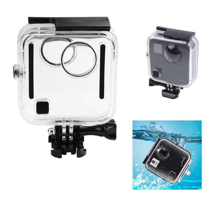 45M Diving Waterproof Housing Case for GoPro Fusion 360 degree Camera Underwater Box Back Door Protective