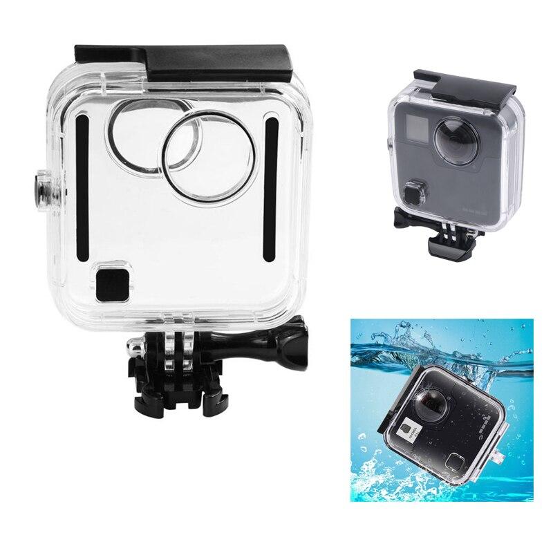 Boîtier étanche de plongée 45 M pour caméra GoPro Fusion 360 degrés boîtier sous-marin couvercle de protection de porte arrière pour GoPro Fusion