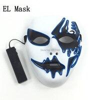 Оптовая продажа 10 шт. вечерние маска 10 видов цветов доступны звуковая активация свечение EL маска бар ночной клуб для Хеллоуина