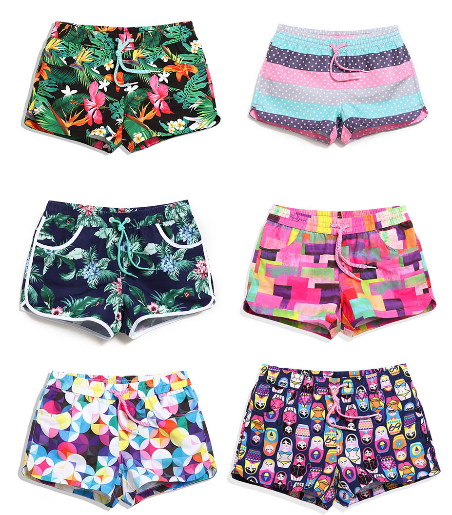 Women Board Shorts Quick Drying Beach Towel Beach Swimwear Swimsuits Short Bottoms Shorts Plus Large Size Summer Shorts Trunks