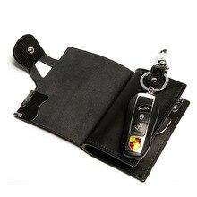 Бизнес держатель карты бумажник 100% Пояса из натуральной кожи ключ сумка унисекс одноцветное органайзер Bag Для мужчин бумажник автомобилей экономка кошелек