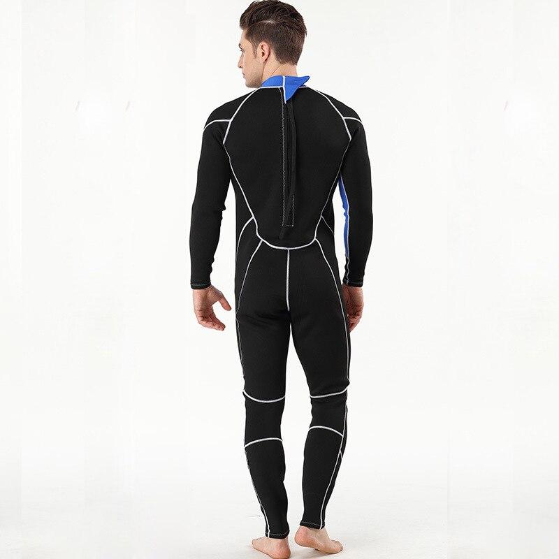 Hommes femmes 2mm néoprène complet combinaison à manches longues cerf-volant surf planche à voile maillots de bain nautisme plongée sous-marine costume chasse sous-marine - 4
