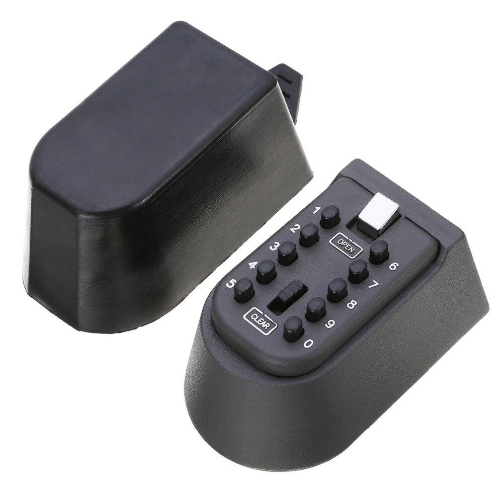 1 pcs Noir clé de Sécurité Casier Combinaison Extérieure Cacher Clé Coffre-Fort Serrure De Stockage Mur Monté 105x65 x 55mm