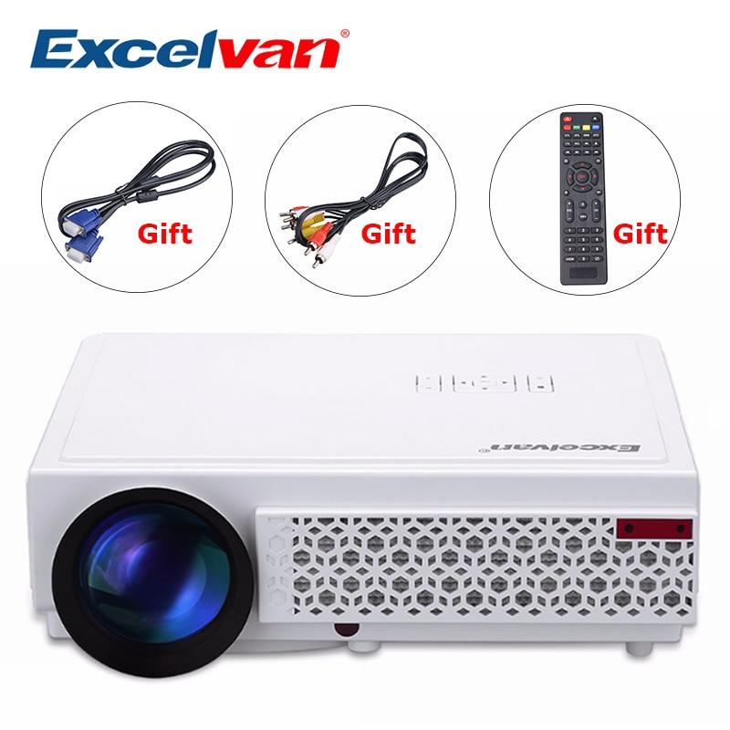 Excelvan светодиодный 96 + 3000 люмен длительный срок Светодиодный Full HD светодиодный дома Кино ТВ проектор 3D ЖК-дисплей Мультимедиа Видео игры Проекторы PK GP90