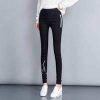 Big Size Woman Black Pencil Pants Women Warm Thick High Waist Slim Casual Trousers Girls Elegant