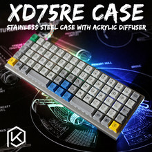 Paslanmaz çelik bükülmüş kılıf xd75re xd75 xd75am 60% özel klavye akrilik paneller akrilik difüzör