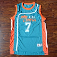 MM MASMIG Coffee Black #7 Flint Tropics Basketball Jersey Stitched Green