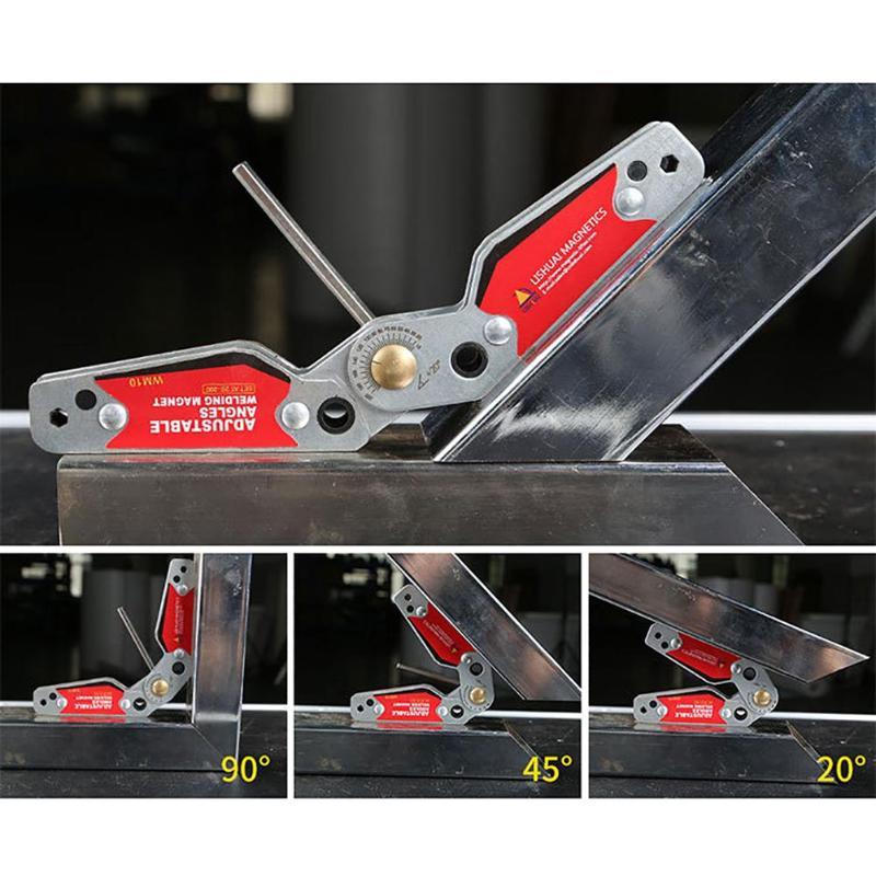 Регулируемый сварочный Магнитный локатор 20-200 градусов углы магнитный зажим магнитный уголок для сварочного позиционера инструменты локат...
