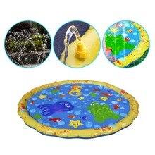 Надувная Наружная игрушка для плавательного бассейна для младенцев и малышей Спринклерный водяной спрей коврик игровой коврик