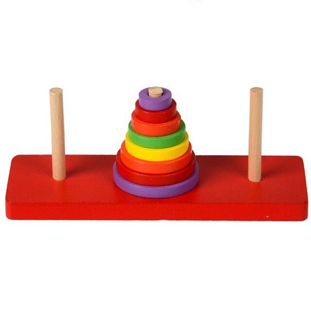 Развивающие Игрушки Kid Детские Твердых Деревянных Блоков Укладки Малыша Блок Игрушка для Детей