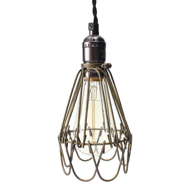 Hot sale lamp cover retro vintage industrial pendant light bulb hot sale lamp cover retro vintage industrial pendant light bulb guard wire cage ceiling fitting hanging aloadofball Image collections