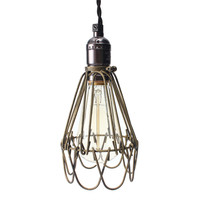 Hot Sale Lamp Cover Retro Vintage Industrial Pendant Light Bulb Guard Wire Cage Ceiling Fitting Hanging