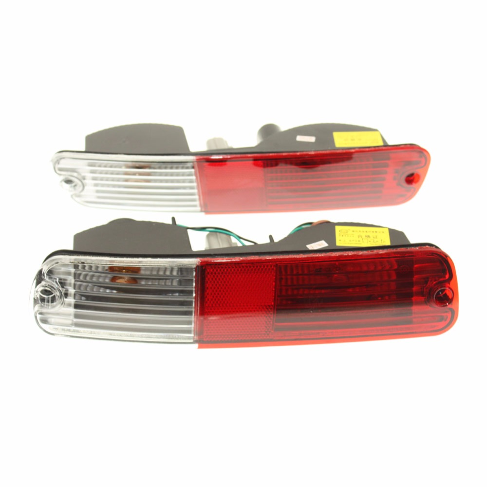 For Mitsubishi Pajero V73 rear bumper light, rear fog lamp, car warning light, rear turn light, one pair (left+right) led rear bumper warning lights car brake lamp cob running light led turn light for honda civic 2016 one pair