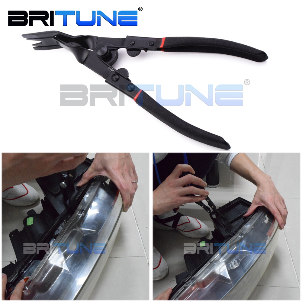 Pliers Bi-metal Clamp Retrofit Tool To Open Auto Cars Motorcycle Bi-xenon Projector Lens Headlight Herramienta Abrir Faro Tuning