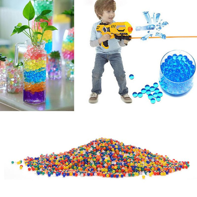 100PCS/bag Crystal Soil Pearl Home Flower Transparent Decoration toys Mud Ball Gel Aqua Jelly Pearl Balls Grow Magic Water Beads