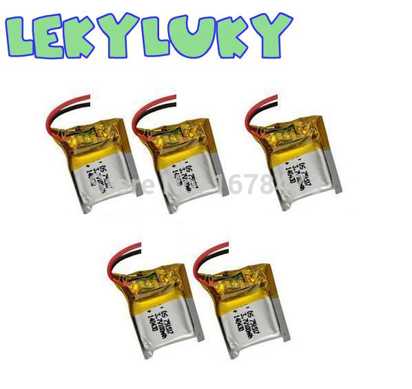 LEKYLUKY <font><b>3.7V</b></font> <font><b>100mAh</b></font> <font><b>lithium</b></font> <font><b>Battery</b></font> for CX-10 CX10 RC Quadcopter Spare Parts 5pcs image