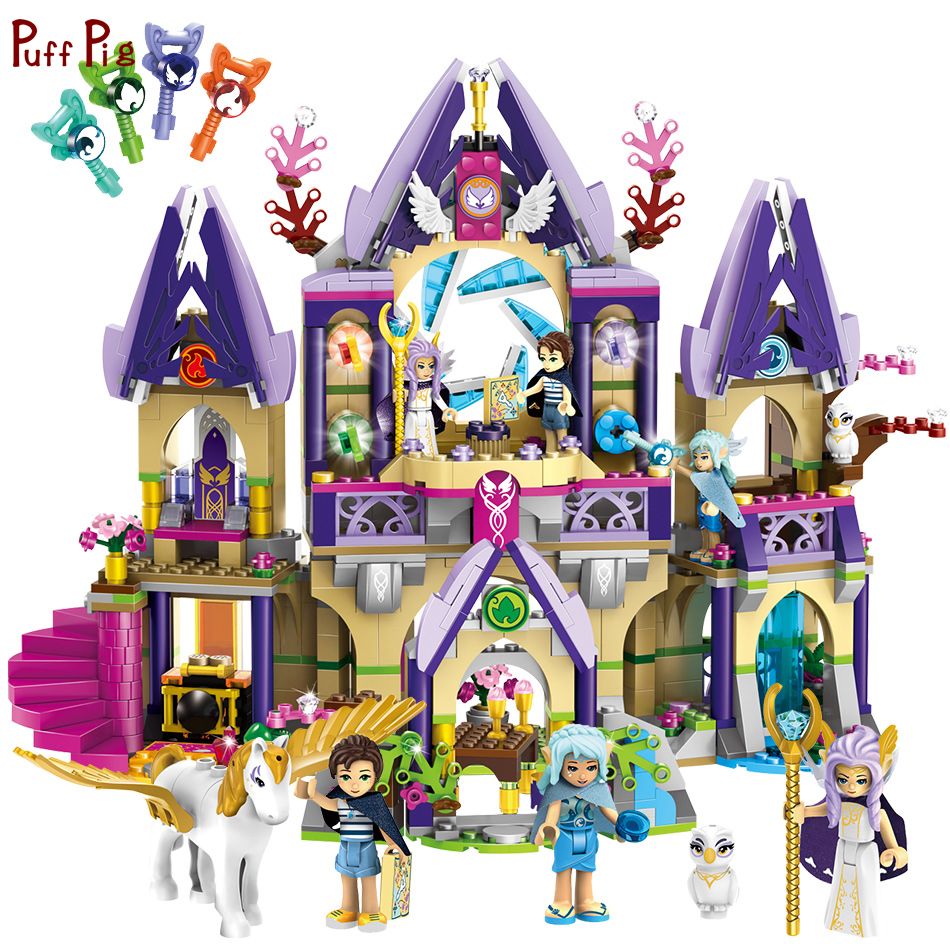 817pcs Emma House Magic Castle Elves Girl Figures Building Blocks Compatible Legoing Friends Bricks For Girl Birthday Gifts Toys 2018 new girl friends fairy elves dragon building blocks kit brick toys compatible legoes kid gift fairy elves girls birthday