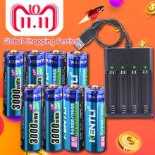 KENTLI 8pcs 1 5v 3000mWh AA rechargeable Li polymer li ion polymer lithium battery 4