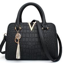 Ladies OL Office Totes Fashion Diamond Lattice PU Shoulder Bag Portable Large Capacity V Word Handbags Women Handle Bag Tassel
