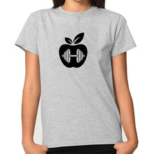 Vegan apple letter women's shirt / girlie