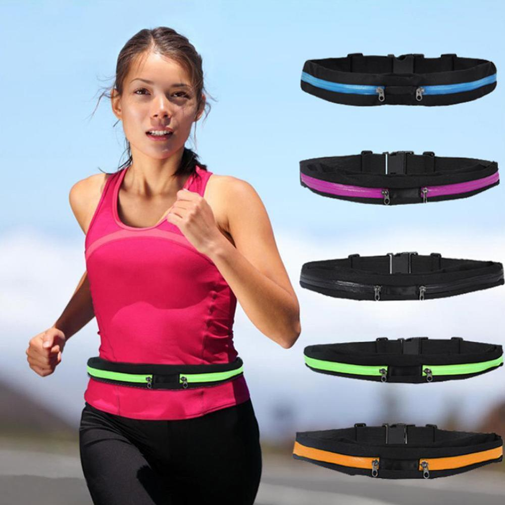 Dual Pocket Running Belt Phone Pouch Waist Bag Outdoor Sports Travel Fanny Pack Unisex Waist Bags Women Men