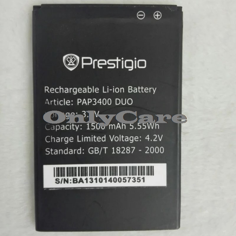 Prestigio 3400 1500mAh Mobile Replacement Li-ion Polymer Battery Bateria for Prestigio PAP 3400 DUO Batterie Accumulator