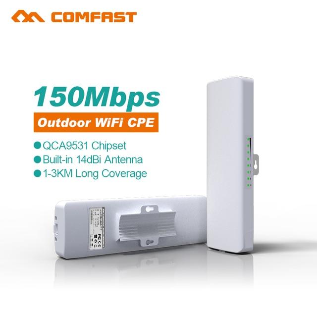 De longo Alcance 150 Mbps roteador Wi-fi ponto de acesso Ao Ar Livre 14dbi 2.4 GHz CPE ponte AP extensor de Reforço de Sinal Sem Fio wi-fi repetidor