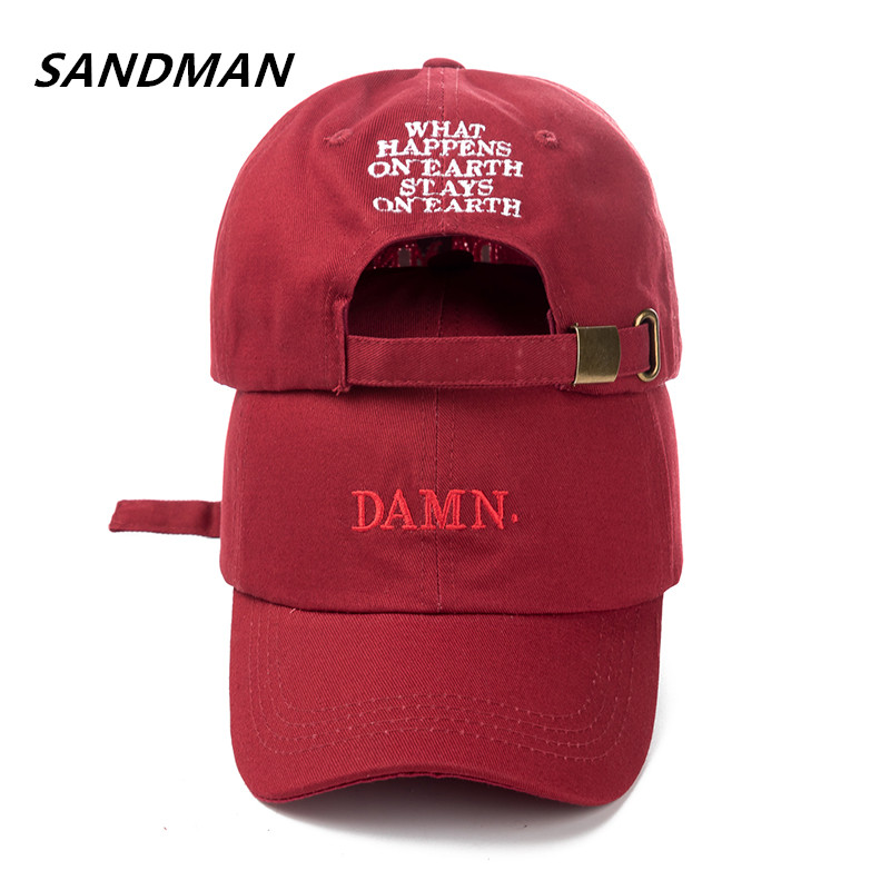 2e9cd824284 SANDMAN High Quality Rapper Kendrick Lamar Damn Snapback Cap Embroidery DAMN  Dad Hat Women Men Baseball Cap Hip Hop Hat Bone
