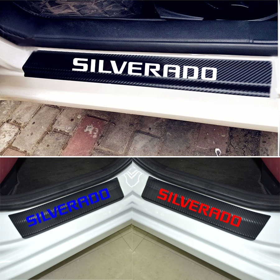 Blue JEYODA Car Door Sill Car Threshold Pedal Sticker for Nissan Rogue Decoration Carbon Fibre Vinyl Sticker Car Accessories Car-Styling