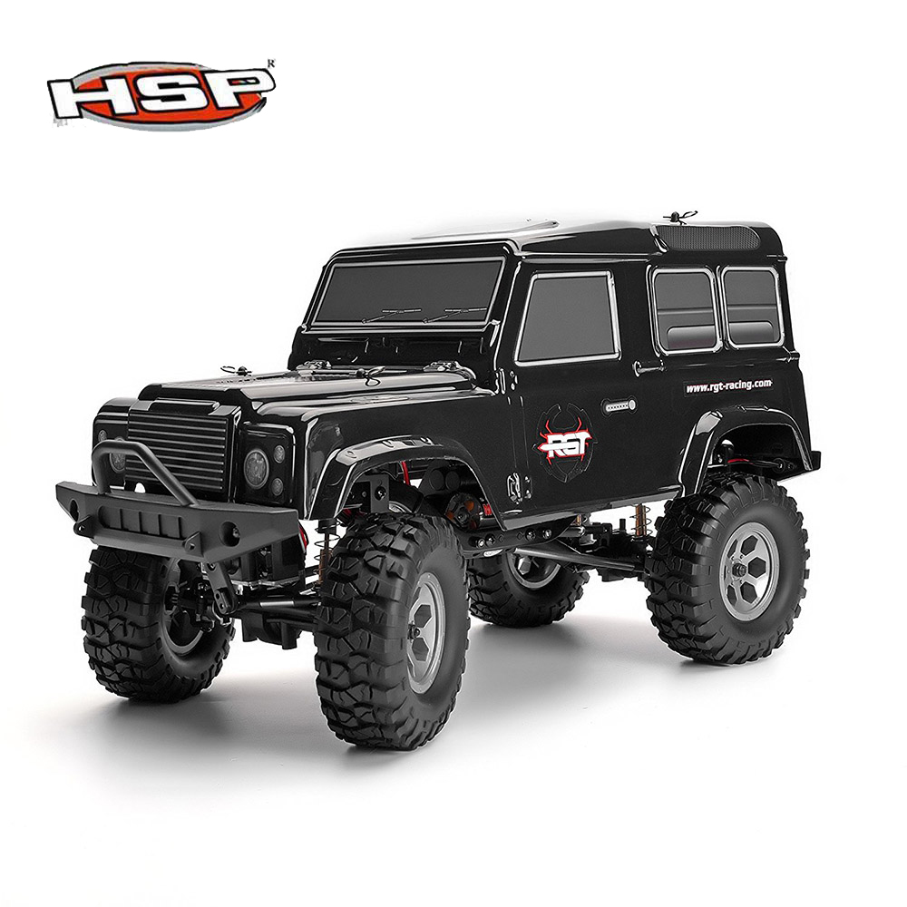 HSP 136100 RC Racing Car 1/10 Scale 4wd Off Road Rock Crawler Climbing High Speed Hobby Electric Remote Control Car Black Silver