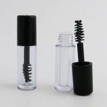 5pcs Travel Mini Empty Clear AS Mascara Tube 1ml Vial Bottle Container with Black Cap for Eyelash Growth Mascara 5x 5ml 10ml empty mascara tube eyelash cream vial liquid bottle container cap y207e hot sale